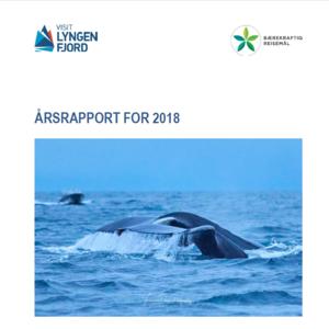 Bilde av forsiden på Årsrapport 2018 Visit Lyngenfjord