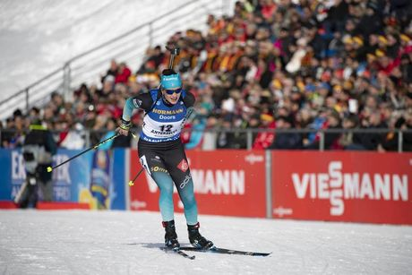 27.01.2019, Antholz, Italy (ITA):Julia Simon (FRA) -  IBU world cup biathlon, mass women, Antholz (ITA). www.nordicfocus.com. © Manzoni/NordicFocus. Every downloaded picture is fee-liable.