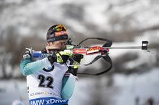 15.02.2019, Soldier Hollow, United States of America (USA):Quentin Fillon Maillet (FRA) -  IBU world cup biathlon, sprint men, Soldier Hollow (USA). www.nordicfocus.com. © Manzoni/NordicFocus. Every downloaded picture is fee-liable.