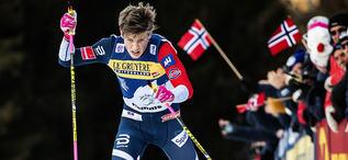 06.01.2019, Val di Fiemme, Italy (ITA):Johannes Hoesflot Klaebo (NOR) - FIS world cup cross-country, tour de ski, final climb men, Val di Fiemme (ITA). www.nordicfocus.com. © Modica/NordicFocus. Every downloaded picture is fee-liable.
