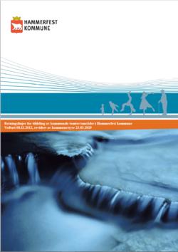Retningslinjer for tildeling av tomter-områder i Hammerfest kommune