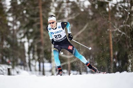 17.03.2019, Falun, Sweden (SWE):Jules Lapierre (FRA) - FIS world cup cross-country, 15km men, Falun (SWE). www.nordicfocus.com. © Modica/NordicFocus. Every downloaded picture is fee-liable.