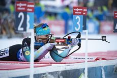 17.01.2019, Ruhpolding, Germany (GER):Anais Bescond (FRA) -  IBU world cup biathlon, sprint women, Ruhpolding (GER). www.nordicfocus.com. © Manzoni/NordicFocus. Every downloaded picture is fee-liable.
