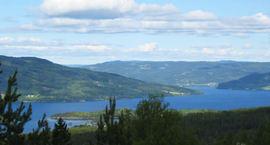 Randsfjorden sett fra Bleiken.