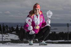 19.03.2017, Oslo, Norway (NOR):Gabriela Koukalova (CZE) -  IBU world cup biathlon, cups, Oslo (NOR). www.nordicfocus.com. © Manzoni/NordicFocus. Every downloaded picture is fee-liable.