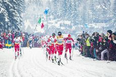 09.03.2019, Oslo, Norway (NOR):Johannes Hoesflot Klaebo (NOR), Hans Christer Holund (NOR), Alexander Bolshunov (RUS), (l-r)  - FIS world cup cross-country, mass men, Oslo (NOR). www.nordicfocus.com. © Modica/NordicFocus. Every downloaded picture is fee-
