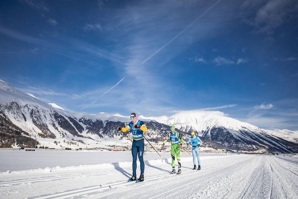 19.01.2019, St. Moritz, Switzerland (SUI):Livio Matossi (SUI), Jan Cech (CZE), (l-r)  - Visma Ski Classics La Diagonela, St. Moritz (SUI). www.nordicfocus.com. © Modica/NordicFocus. Every downloaded picture is fee-liable.