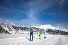 19.01.2019, St. Moritz, Switzerland (SUI):Livio Matossi (SUI), Jan Cech (CZE), (l-r)  - Visma Ski Classics La Diagonela, St. Moritz (SUI). www.nordicfocus.com. © Modica/NordicFocus. Every downloaded picture is fee-liable.