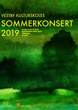 kulturskolens sommerkonsert 2019 plakat