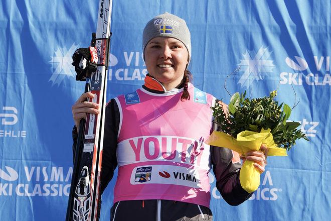 SOFIE ELEBRO vann ungdomströjan i Visma Ski Classics i vintras. Nu byter hon team från Team Ragde Eiendom till Team ParkettPartner Sjusjøen. Foto: VISMA SKI CLASSICS