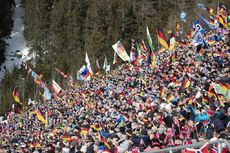 26.01.2019, Antholz, Italy (ITA):Event Feature: fans on the grand stand -  IBU world cup biathlon, pursuit women, Antholz (ITA). www.nordicfocus.com. © Manzoni/NordicFocus. Every downloaded picture is fee-liable.