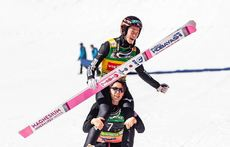 24.03.2019, Planica, Slovenia (SLO): Ryoyu Kobayashi (JPN) - FIS world cup ski flying, cups, Planica (SLO). www.nordicfocus.com. © Nordicfocus/EXPA/JFK. Every downloaded picture is fee-liable.