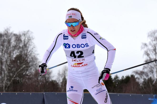 JENNIE ÖBERG har fått nytt jobb i Norrbotten. Här från världscupen i Falun i vintras. Foto/rights: ROLF ZETTERBERG/kekstock.com