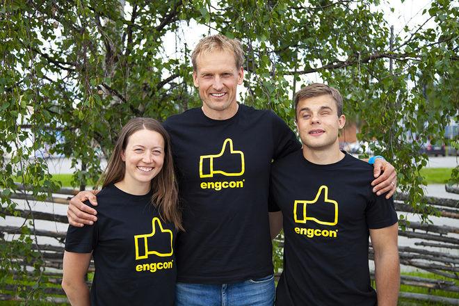 TEAM ENGCON är ett helt nytt skidteam med bland annat Laila Kveli, Jerry Ahrlin och Zebastian Modin. Foto: STEN STRÖMGREN/Encon
