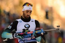 17.01.2019, Ruhpolding, Germany (GER):Martin Fourcade (FRA) -  IBU world cup biathlon, sprint men, Ruhpolding (GER). www.nordicfocus.com. © Tumashov/NordicFocus. Every downloaded picture is fee-liable.