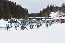 10.02.2019, Morez, France (FRA): start of the race - FIS World Loppet LaTransjurassienne, Morez (FRA). www.nordicfocus.com. © Rauschendorfer/NordicFocus. Every downloaded picture is fee-liable.