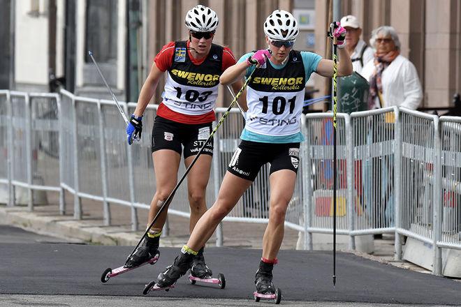 DET VAR LÄNGE en duell mellan Linn Sömskar och Maria Nordström, men också Maria fick släppa på slutet. Foto/rights: ROLF ZETTERBERG/kekstock.com
