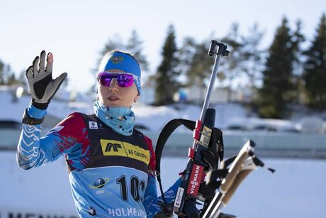21.03.2019, Oslo, Norway (NOR):Victoria Slivko (RUS) - IBU world cup biathlon, sprint women, Oslo (NOR). www.nordicfocus.com. © Manzoni/NordicFocus. Every downloaded picture is fee-liable.