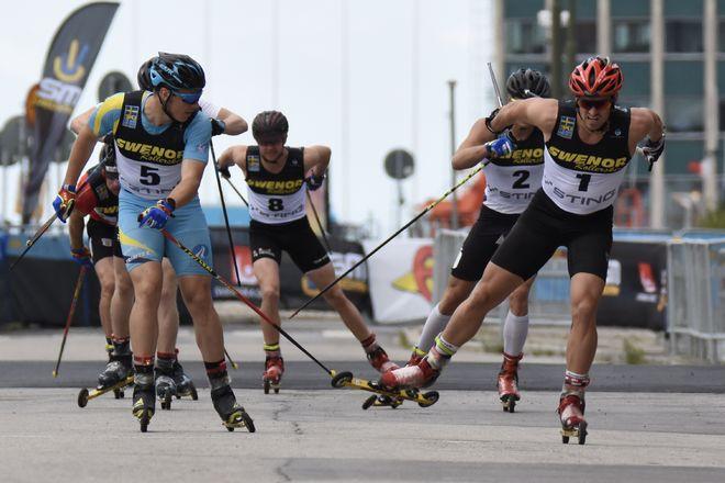 VICTOR GUSTAFSSON (th) vinner SM-sprinten före Anton Persson. Foto/rights: ROLF ZETTERBERG/kekstock.com