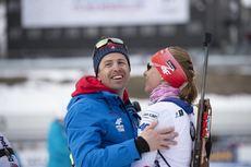 24.03.2019, Oslo, Norway (NOR):Daniel Kuzmin (SVK), Anastasiya Kuzmina (SVK), (l-r) - IBU world cup biathlon, mass women, Oslo (NOR). www.nordicfocus.com. © Manzoni/NordicFocus. Every downloaded picture is fee-liable.