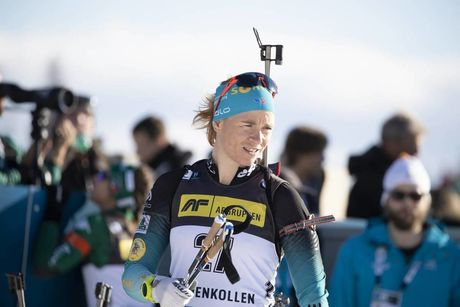 21.03.2019, Oslo, Norway (NOR):Anais Bescond (FRA) - IBU world cup biathlon, sprint women, Oslo (NOR). www.nordicfocus.com. © Manzoni/NordicFocus. Every downloaded picture is fee-liable.