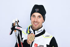 24.02.2013, Val di Fiemme, Italy (ITA): Maxime Laheurte (FRA)- FIS nordic world ski championships, nordic combined, medals, Val di Fiemme (ITA). www.nordicfocus.com. © Felgenhauer/NordicFocus. Every downloaded picture is fee-liable.