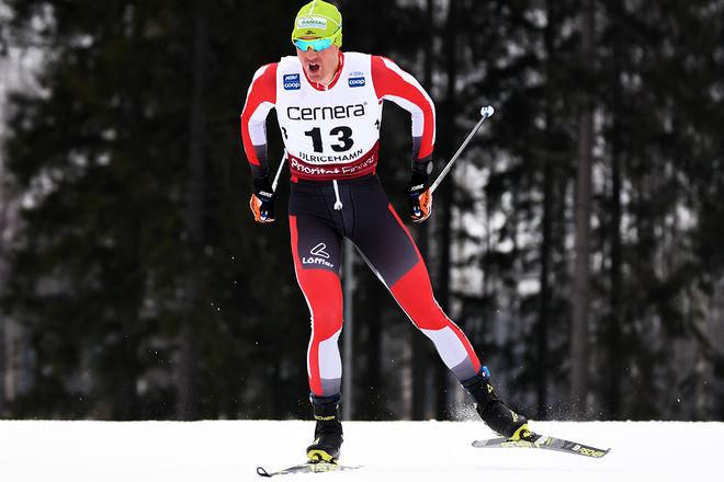MAX HAUKE togs på bar gärning med bloddoping under VM i Seefeld. Här från världscupen i Ulricehamn i vintras. Foto/rights: ROLF ZETTERBERG/kekstock.com