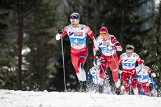 23.02.2019, Seefeld, Austria (AUT):Martin Johnsrud Sundby (NOR), Alexander Bolshunov (RUS), (l-r)  - FIS nordic world ski championships, cross-country, skiathlon men, Seefeld (AUT). www.nordicfocus.com. © Modica/NordicFocus. Every downloaded picture is