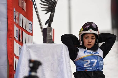 24.03.2019, Chaikovsky, Russia (RUS):Sara Takanashi (JPN) - FIS world cup ski jumping ladies, individual HS140, Chaikovsky (RUS). www.nordicfocus.com. © Tumashov/NordicFocus. Every downloaded picture is fee-liable.