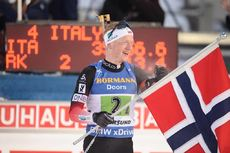 14.03.2019, Oestersund, Sweden (SWE):Johannes Thingnes Boe (NOR) - IBU world championships biathlon, single mixed relay, Oestersund (SWE). www.nordicfocus.com. © Tumashov/NordicFocus. Every downloaded picture is fee-liable.
