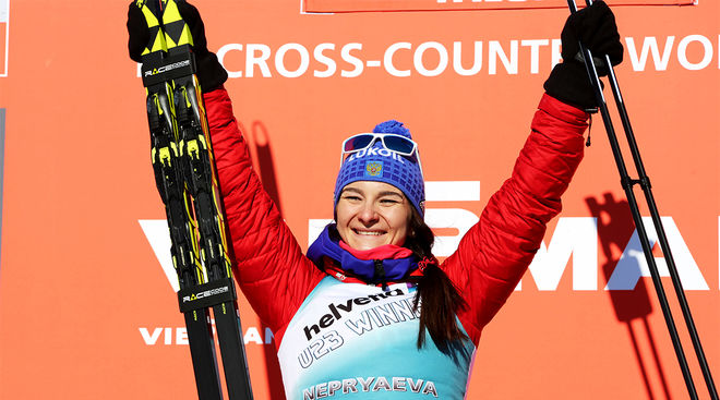 VÄRLDSÅKAREN Natalia Nepryaeva dök upp på VM på rullskidor i Lettland och utklassade alla över öppningsdistansen 10 km. Foto/rights: MARCELA HAVLOVA/kekstock.com
