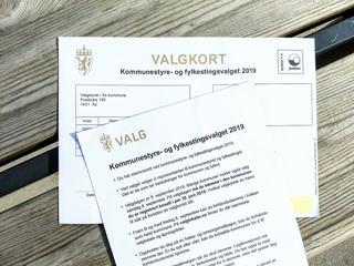 Illustrasjonsfoto av valgkort