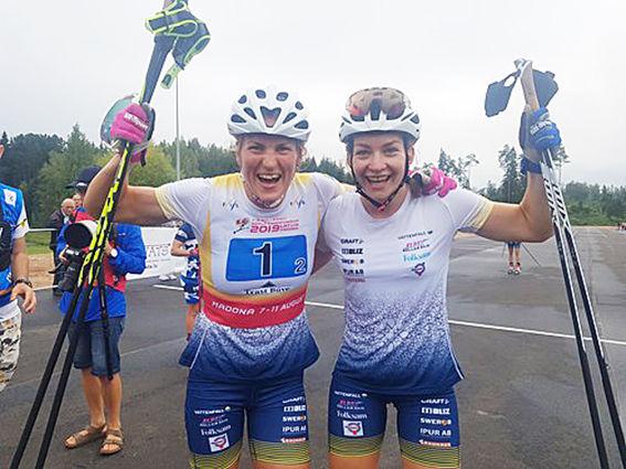 GULDJUBEL på VM i Madona för Linn Sömskar och Moa Olsson som vann teamsprinten på VM:s sista dag.