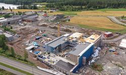 Byggeplassbilde fra drone 14.8.2019