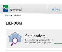 Kartverket - SeEiendom og Norgeskart
