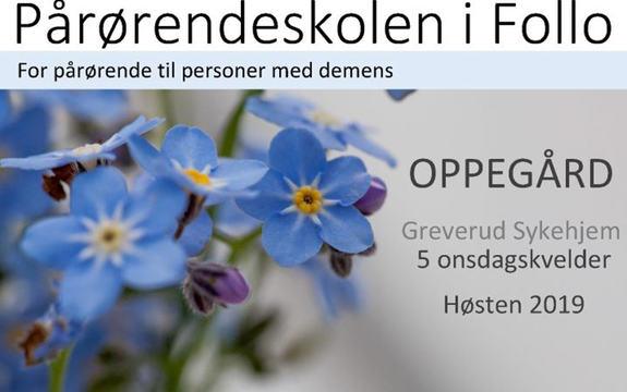 I september starter pårørendeskolen for pårørende til personer med demens i Follo.