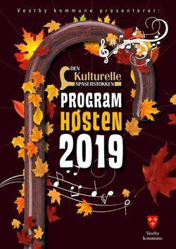 Den kulturelle spaserstokken høst 2019 forside program