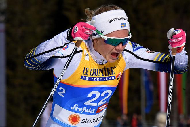 MAJA DAHLQVIST var enda icke-norska åkare som tog sig till finalen i sprinten i Aure i Toppidrettsveka under fredagen. Foto/rights: ROLF ZETTERBERG/kekstock.com