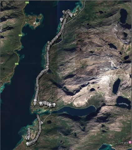 Stolpesanering kart Tjeldsund
