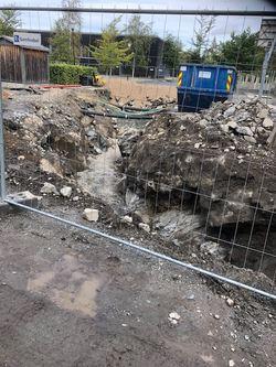 Grave- og sprengningsarbeider på Grevlingen området