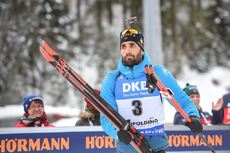 20.01.2019, Ruhpolding, Germany (GER):Martin Fourcade (FRA) -  IBU world cup biathlon, mass men, Ruhpolding (GER). www.nordicfocus.com. © Tumashov/NordicFocus. Every downloaded picture is fee-liable.