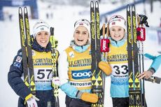 08.12.2018, Beitostolen, Norway (NOR):Charlotte Kalla (SWE), Therese Johaug (NOR), Ingvild Flugstad Oestberg (NOR), (l-r)  - FIS world cup cross-country, 15km women, Beitostolen (NOR). www.nordicfocus.com. © Modica/NordicFocus. Every downloaded picture
