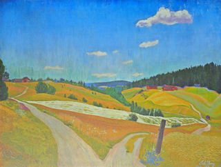 """Bildet viser maleriet """"Markens grøde"""" av Harald Sohlberg"""
