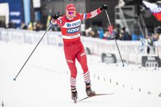 17.03.2019, Falun, Sweden (SWE):Alexander Bolshunov (RUS) - FIS world cup cross-country, 15km men, Falun (SWE). www.nordicfocus.com. © Modica/NordicFocus. Every downloaded picture is fee-liable.