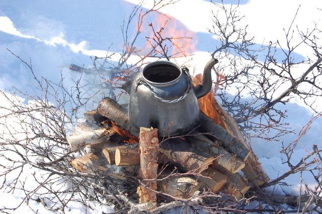 Bilde av bål med kaffekjele