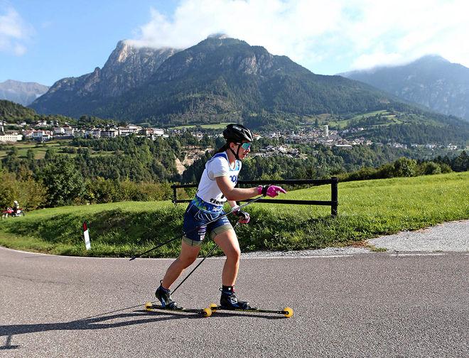 MOA OLSSON gjorde ett kanonlopp och vann den avslutande etappen uppför till Alpe Cermis. Foto: NEWSPOWER.IT