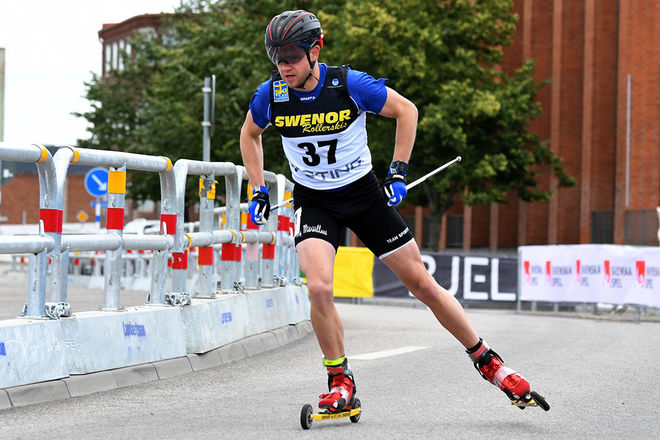 ROBIN NORUM gjorde sin sista tävling på toppnivå under helgens världscup i Italien. IFK Umeå-åkaren som varit bäst på rullskidor avslutar karriären som 31-åring. Foto/rights: ROLF ZETTERBERG/kekstock.com