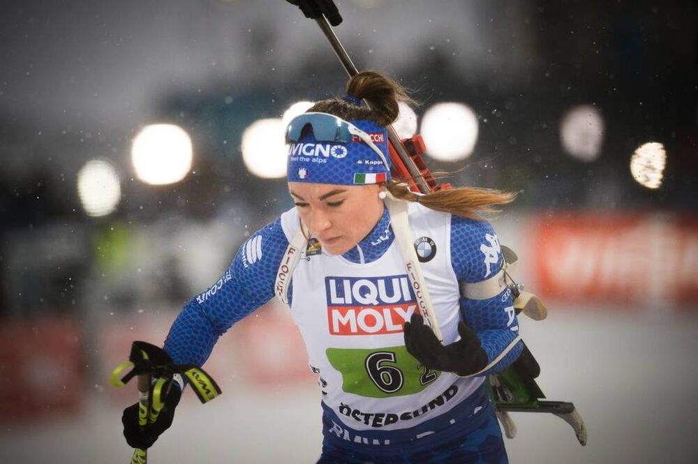 07.03.2019, Oestersund, Sweden (SWE):Dorothea Wierer (ITA) - IBU world championships biathlon, relay mixed, Oestersund (SWE). www.nordicfocus.com. © Tumashov/NordicFocus. Every downloaded picture is fee-liable.