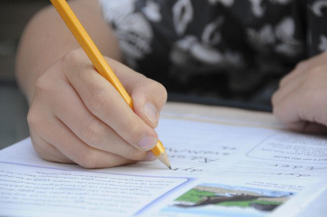 Barn som skriver
