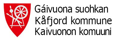 Kåfjord trespråklig logo små bokstaver sort skrift hvit bakgrunn 400px 300dpi_sRGB.jpg